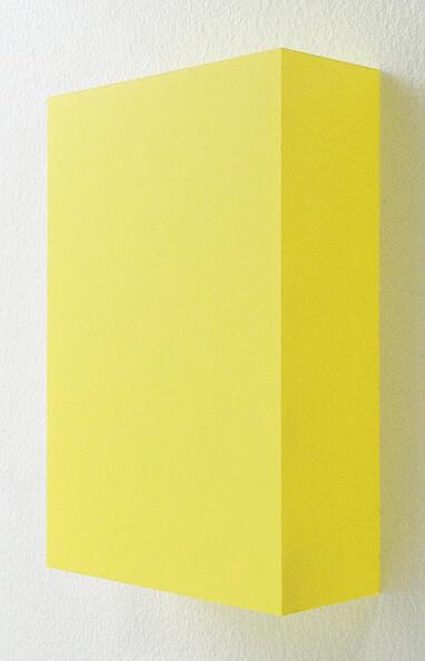 越野潤 WORK16-5 アクリルにシルクスクリーン 10 x 15 cm 2016