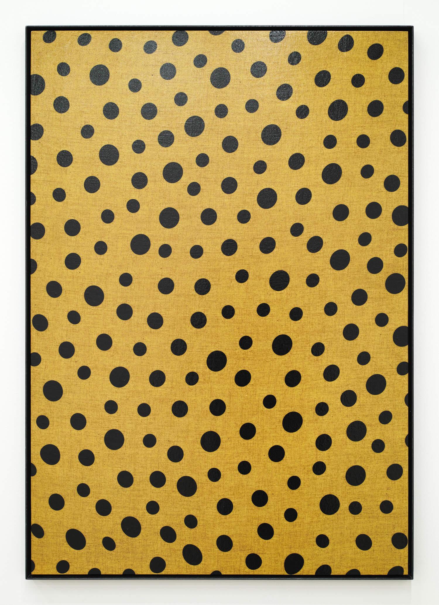 日下部一司 無意味の反復-9 木製パネル、綿布にウレタン塗料、鉄製フレーム 865 x 605 mm 1997