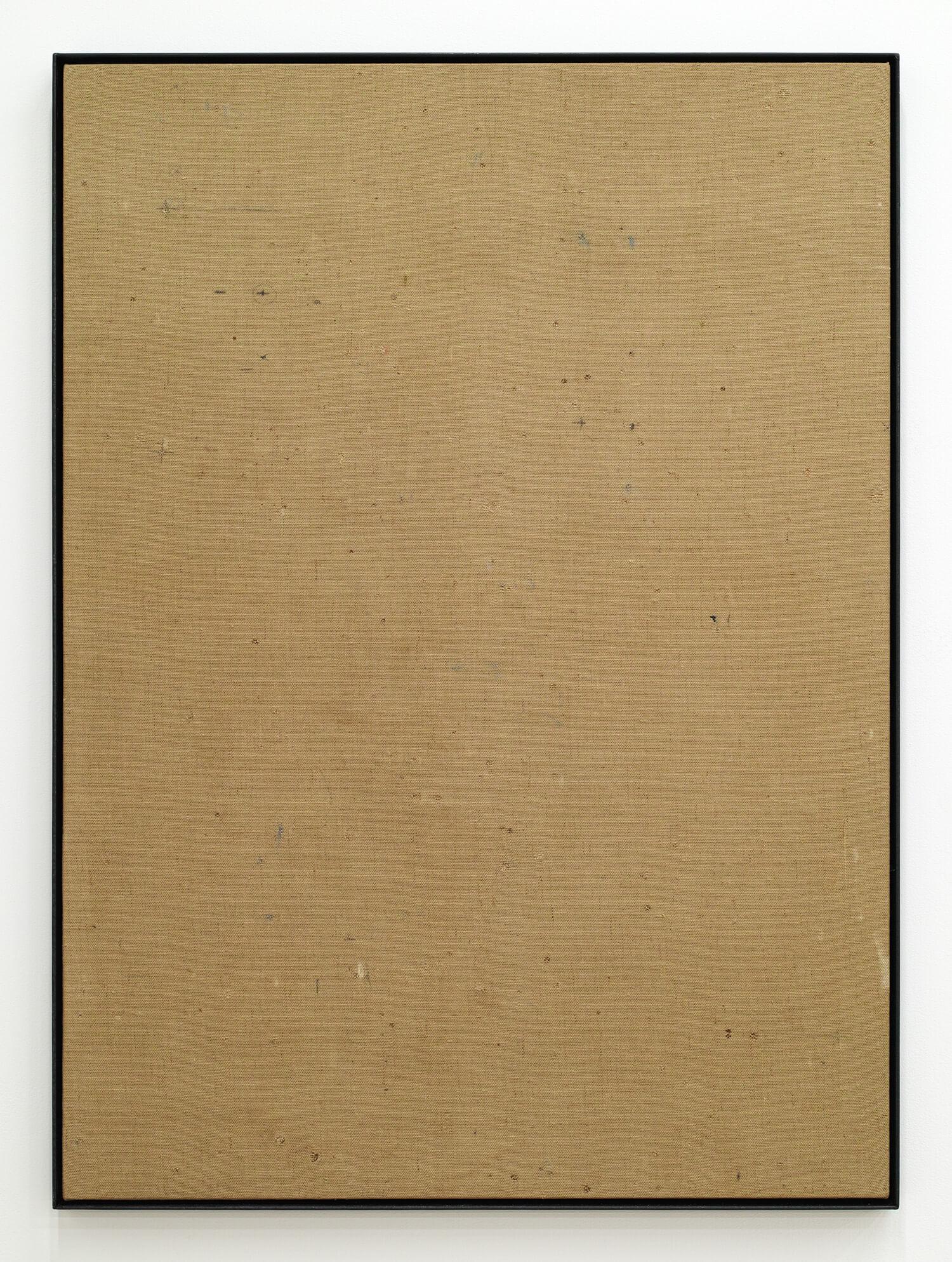 日下部一司 裸眼見麻布(京都市美術館壁布) 鉛筆、チョーク他 745 x 545 mm 2015