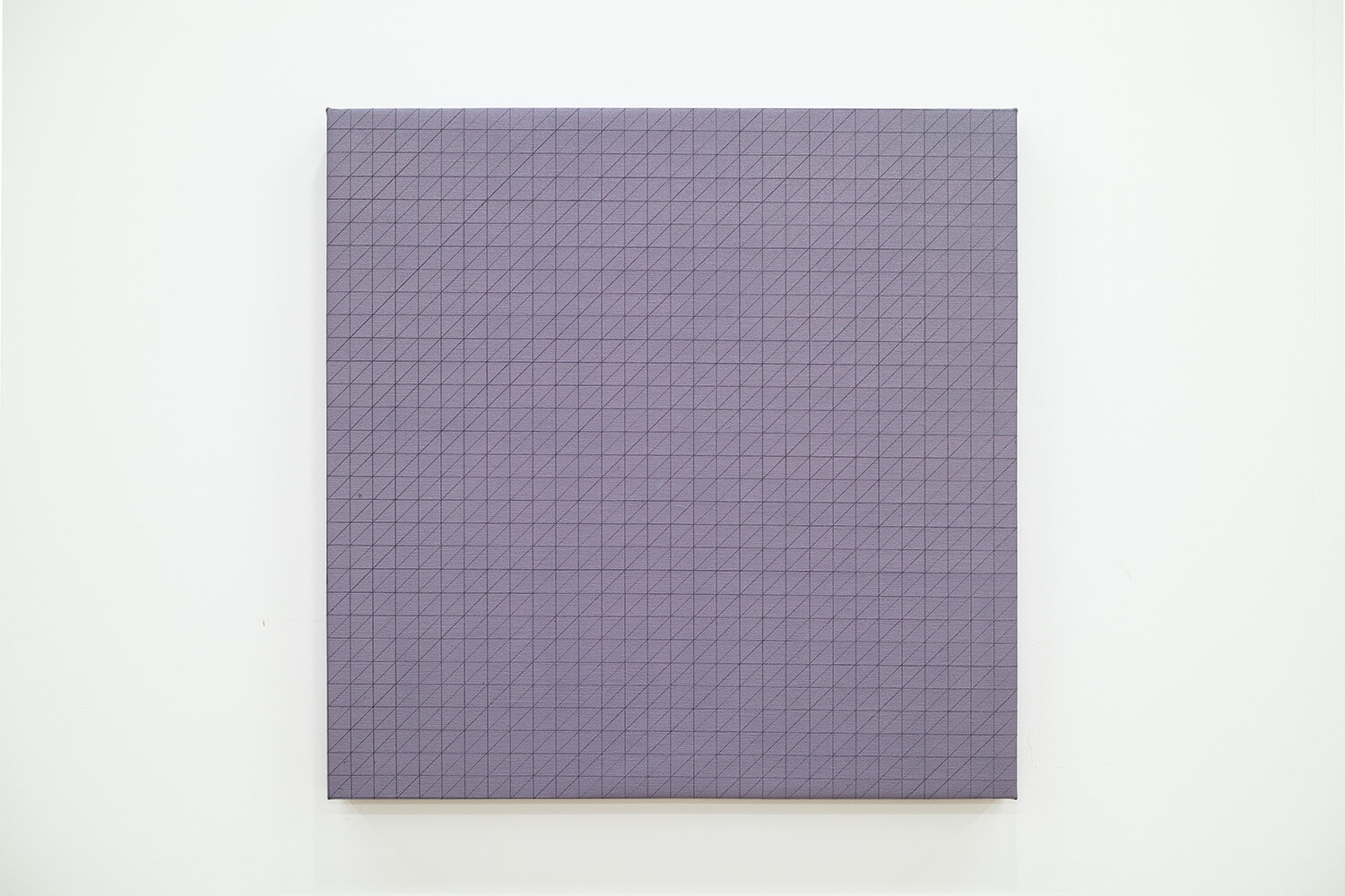沢居曜子 untitled-Line oil on canvas 60 x 60 x4.5 cm 2014