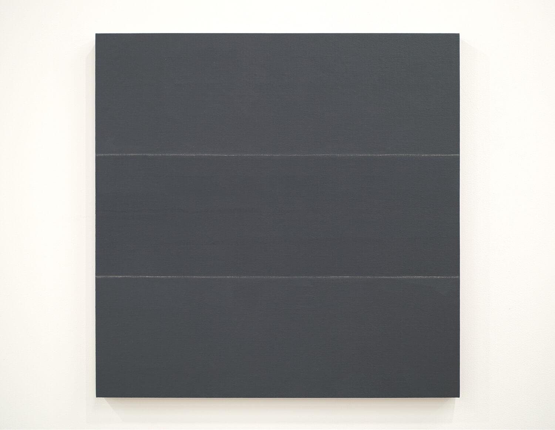 鈴木たかし TS0822 Gesso on linen on panel 60 x 60 cm 2008