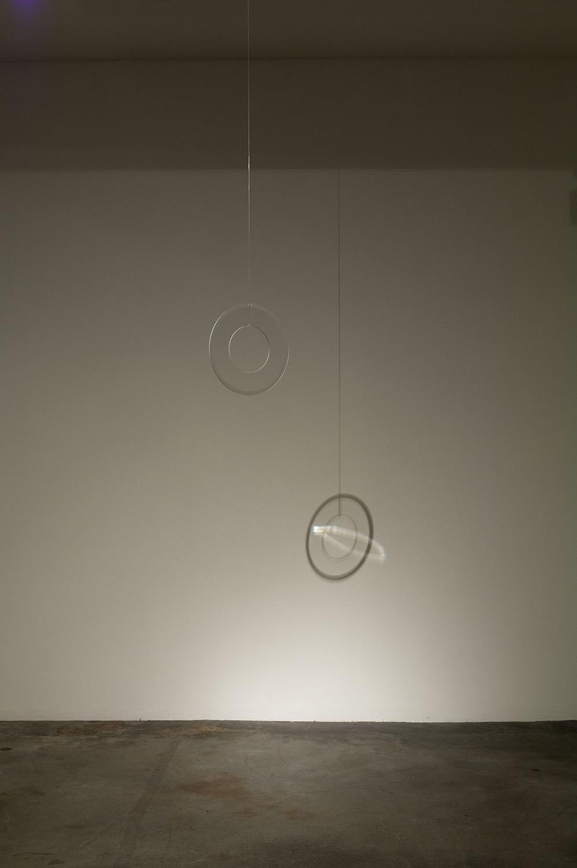 untitled 2009 #3<br>24 cm diameter x 5 mm, glass