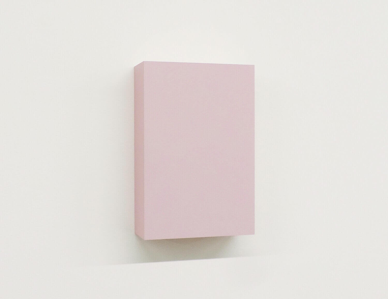 WORK16-10(pink)アクリルにシルクスクリーン , 10 x 15 x 4 cm , 2016