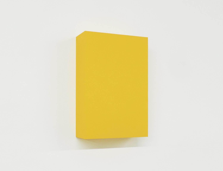WORK16-8(yellow)アクリルにシルクスクリーン , 10 x 15 x 4 cm , 2016