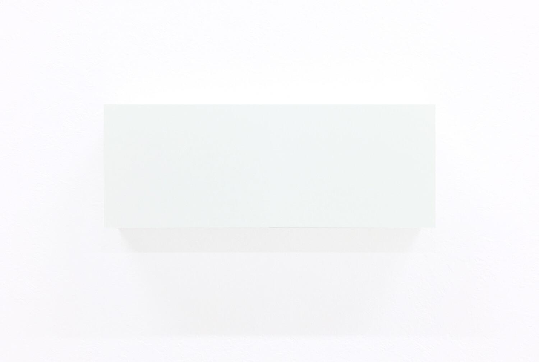 half note_white, silkscreen on perspex, 9 x 24 x 4 cm, 2018