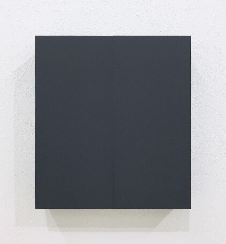 half note_gray, silkscreen on perspex, 18 x 16 x 4 cm, 2018