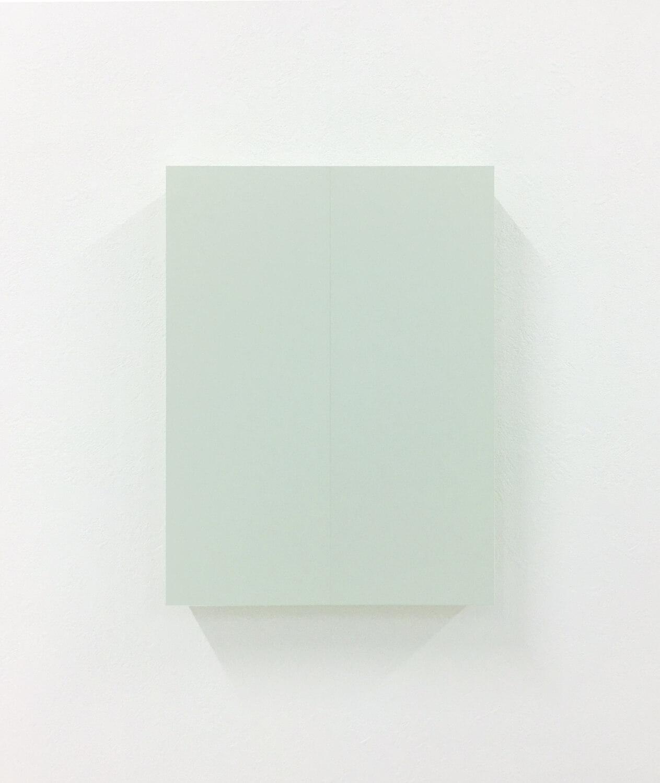 half note_light gray, silkscreen on perspex, 24 x 18 x 4 cm, 2018