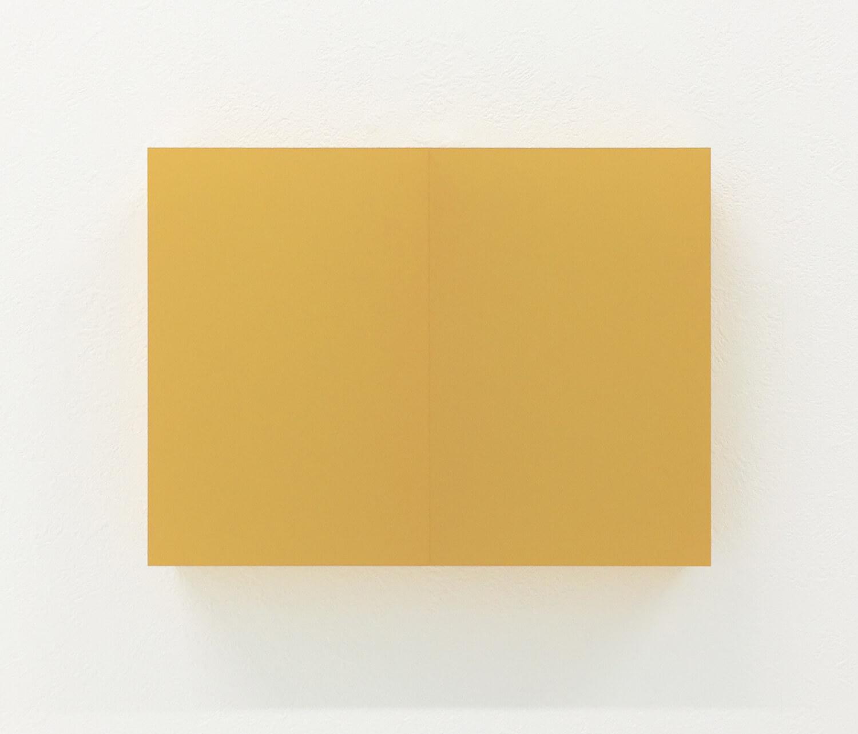 half note_yellow, silkscreen on perspex, 18 x 24 x 4 cm, 2018
