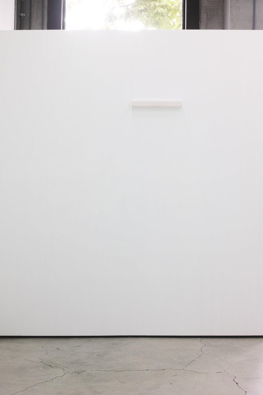 half note_pink, silkscreen on perspex, 4,5 x 48 x 4 cm, 2018