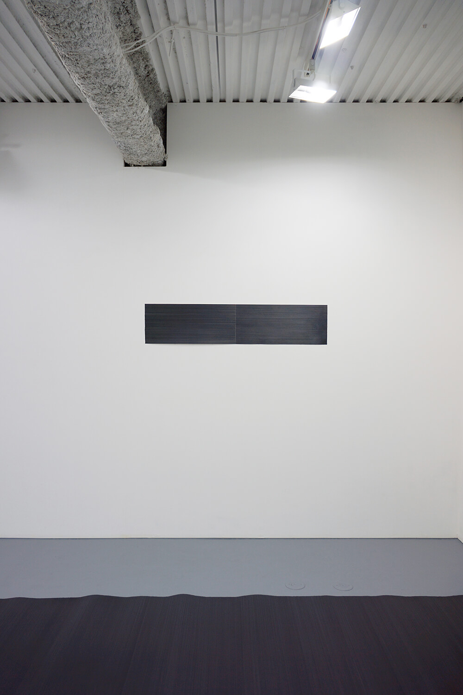 五十嵐彰雄 Akio Igarashi<br><strong>線 '08</strong><br>Pencil on Japanese paper, 25 x 119.5 cm, 2008