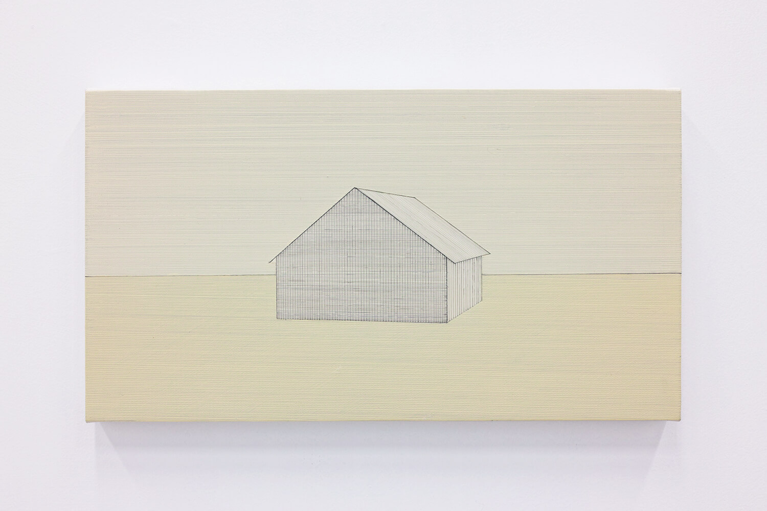 house #17<br>oil on canvas , 31×56 cm , 2011