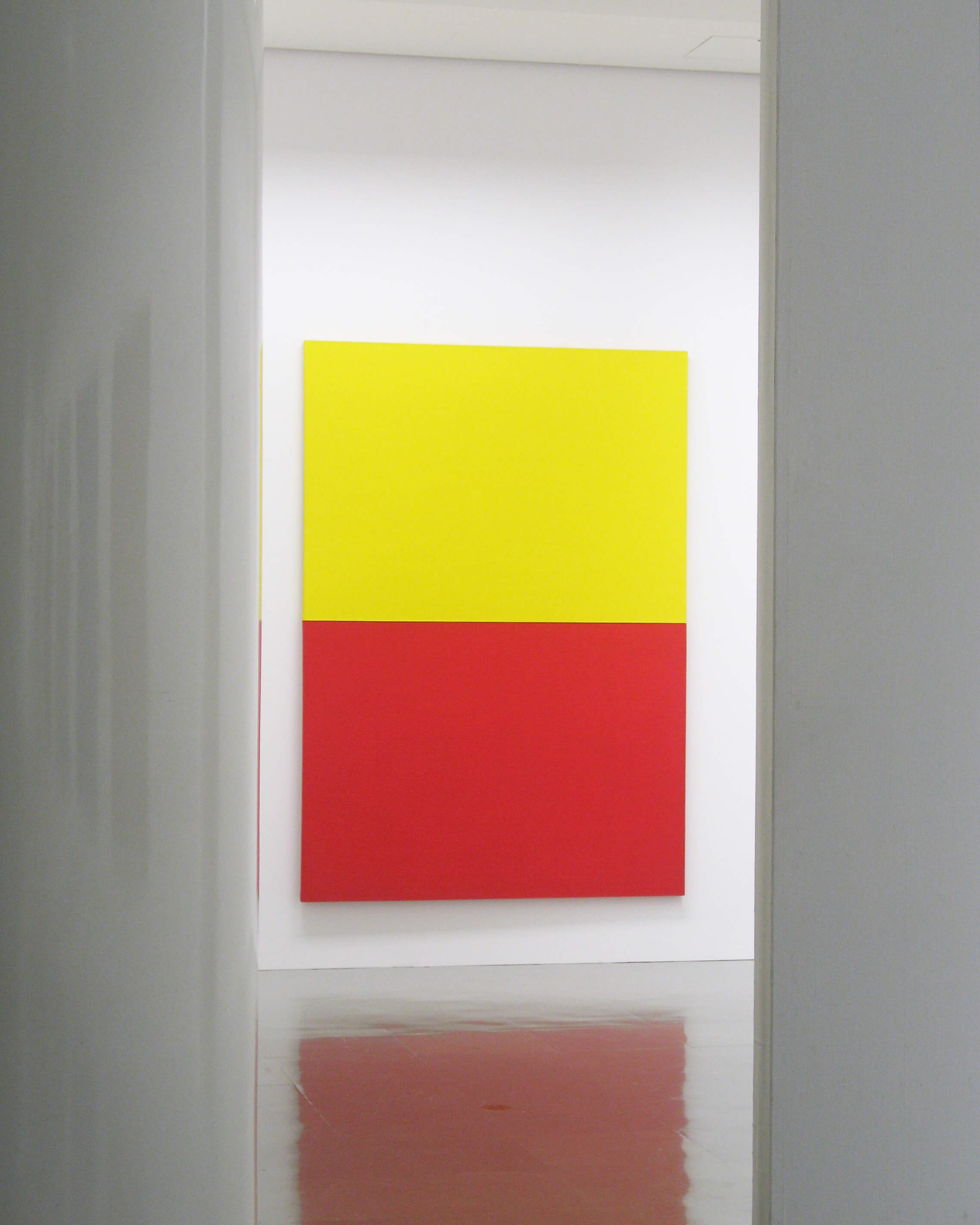 yellow and red 1962<br>acrylic, pigment on canvas (2 panels), 243.5 x 173.5 cm / courtesy of Gallery Yamaguchi, Osaka