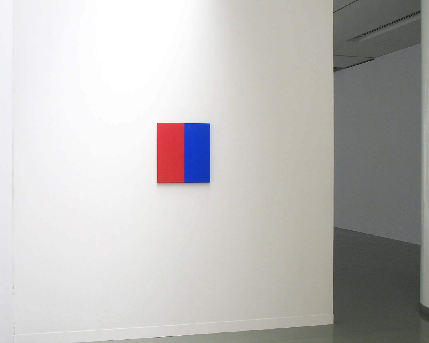 red and blue 1962<br>acrylic, pigment on canvas (1 panel), 53.5 x 48.5 cm / courtesy of Gallery Yamaguchi, Osaka