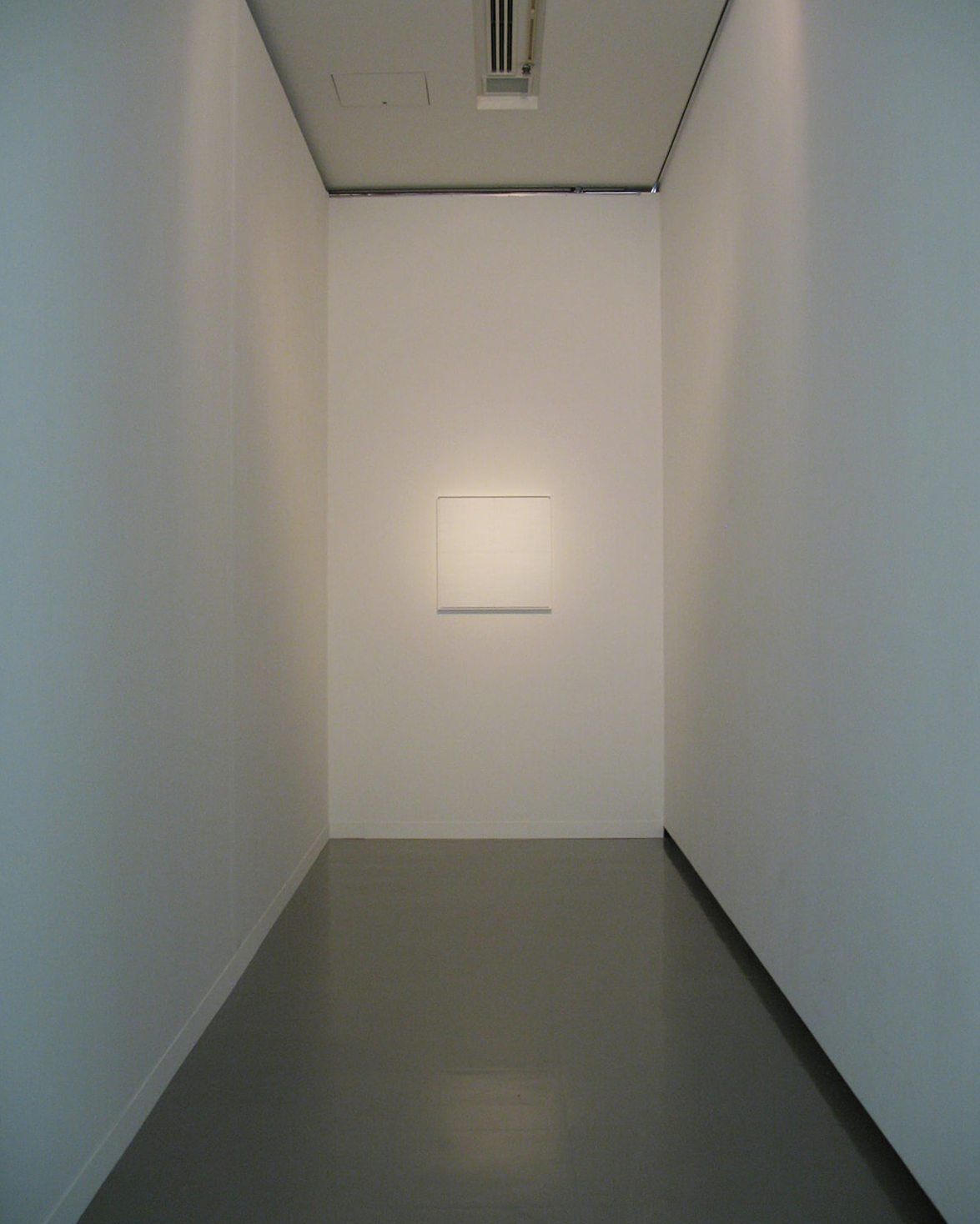 white 1962<br>acrylic, paper tape on board (4 panels), 68.6 x 68.6 cm / col. Private, New York