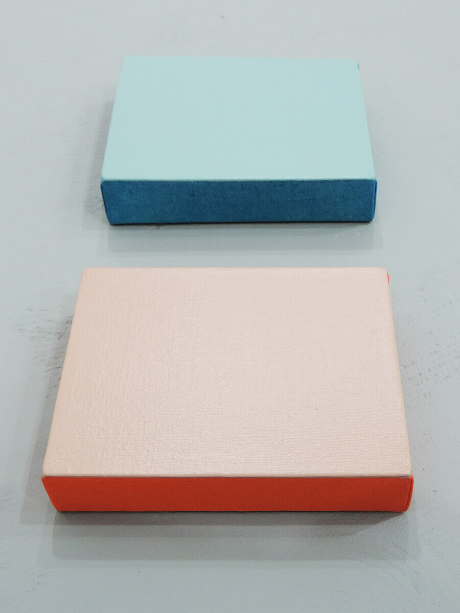 Text No. 1003 / Acrylic on cotton canvas , 18 x 14 x 3.5 cm each , 2014
