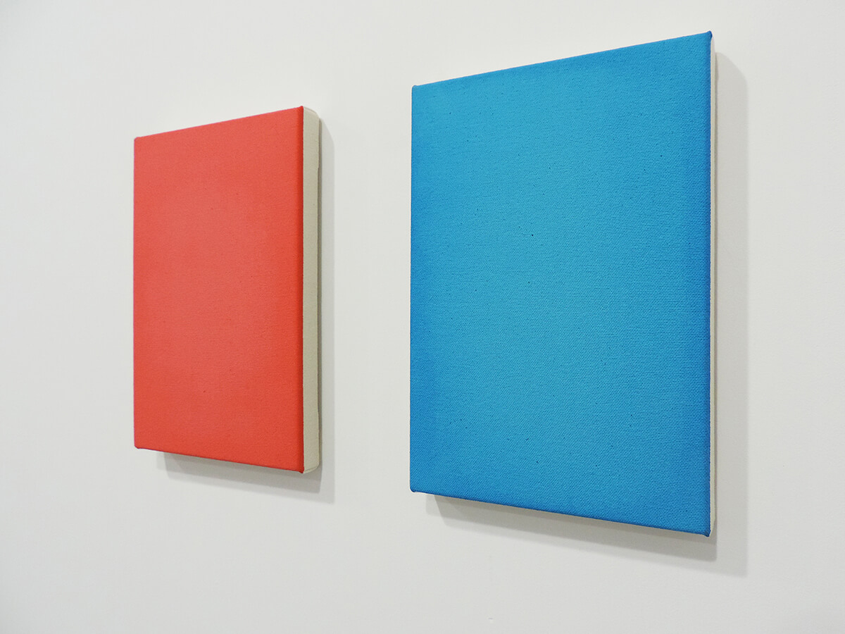 Text No. 969 (light) / Acrylic, ink on cotton canvas , 23 x 19.5 x 2 cm each , 2014