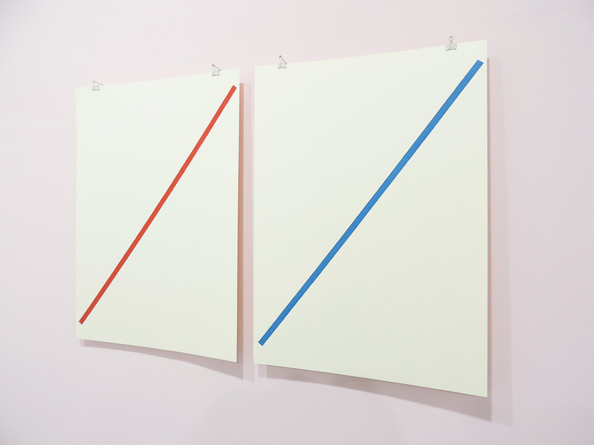 Text No. 1021 / Oil on paper , 53 x 38 cm each , 2014