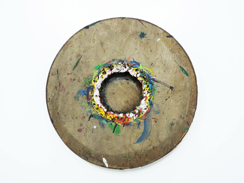 <b>Untitled</b><br>Acrylic on wood 41.3 x 41.3 x 5.5 cm 1990
