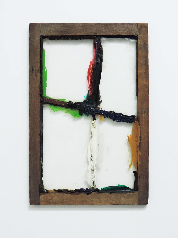 <b><br>Untitled</b><br>Acrylic on wood, glass 46.5 x  30.5 x 1.5 cm 1972