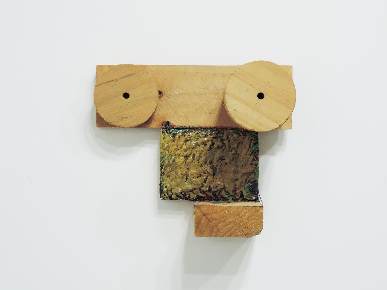 <b>Untitled</b><br>Acrylic on wood 21 x 25 x 12.5 cm 2008