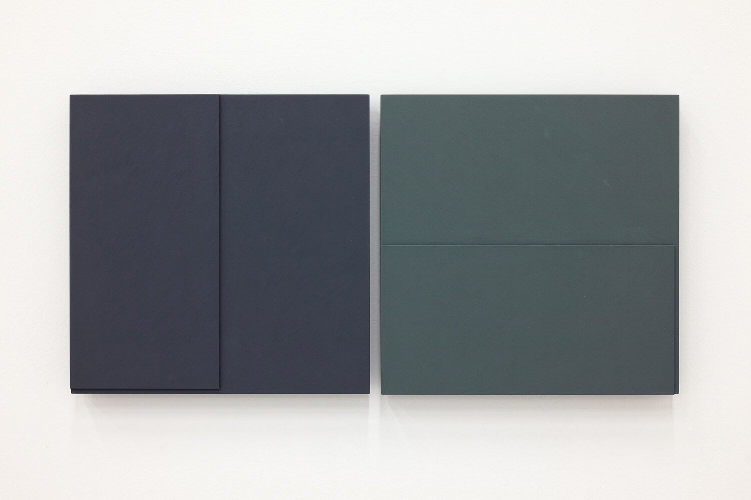 TS1721<br>Colour Gesso on Panel, a set of 2 pieces, 25x25cm each, 2017