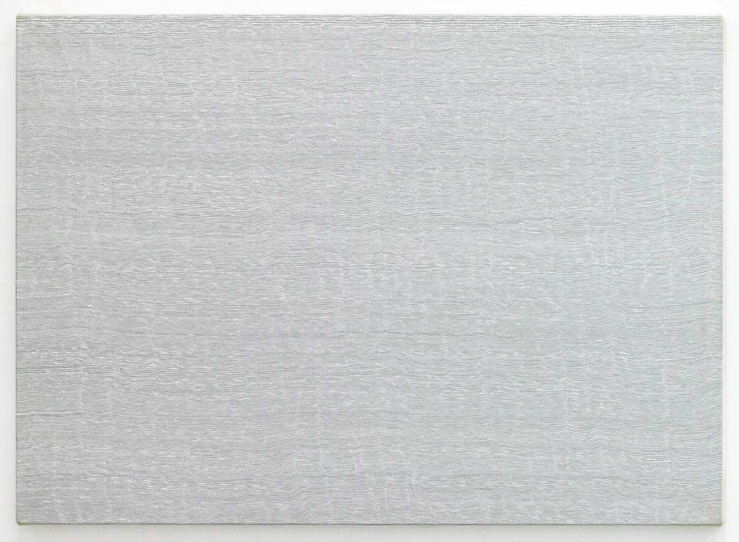 Untitled-Breathe Cool gray<br>Acrylic & gesso on canvas, 56.5 x 78 cm 1996