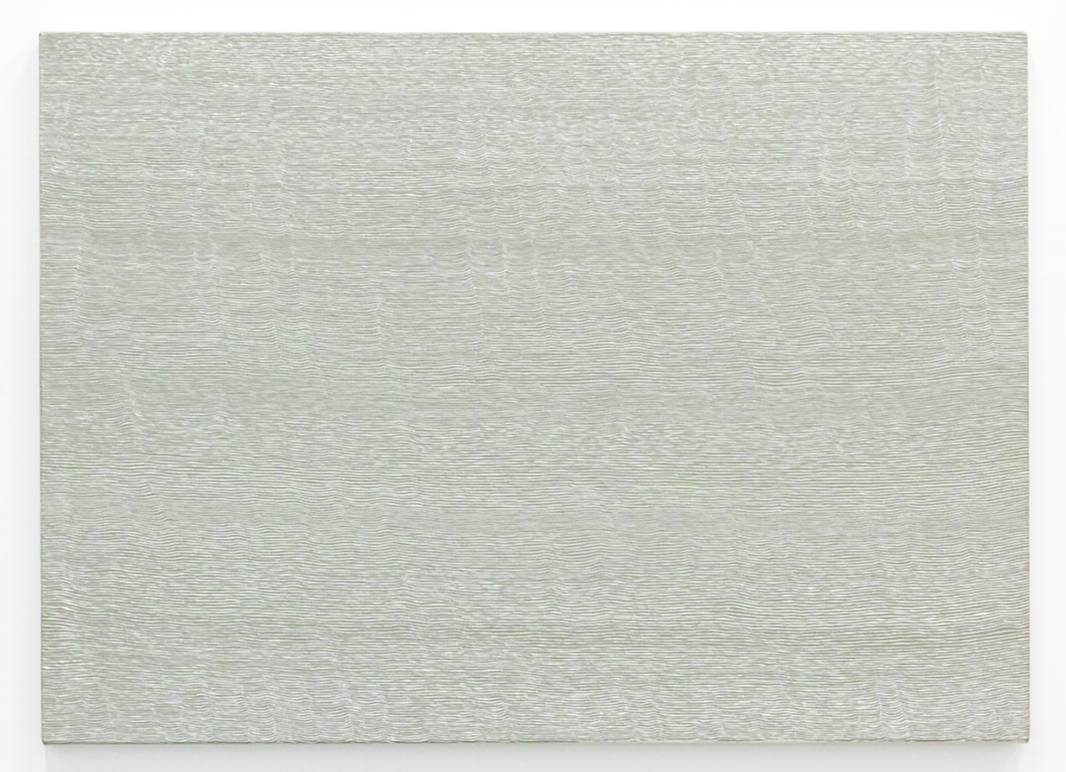 Untitled-Breath Warm gray<br>Acrylic & gesso on canvas, 56.5 x 78 cm 1996