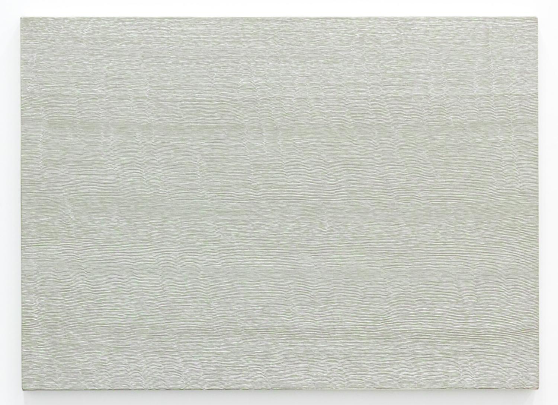 Untitled-Breath Warm gray<br>Acrylic & gesso on canvas, 56.5 x 78 cm 1996
