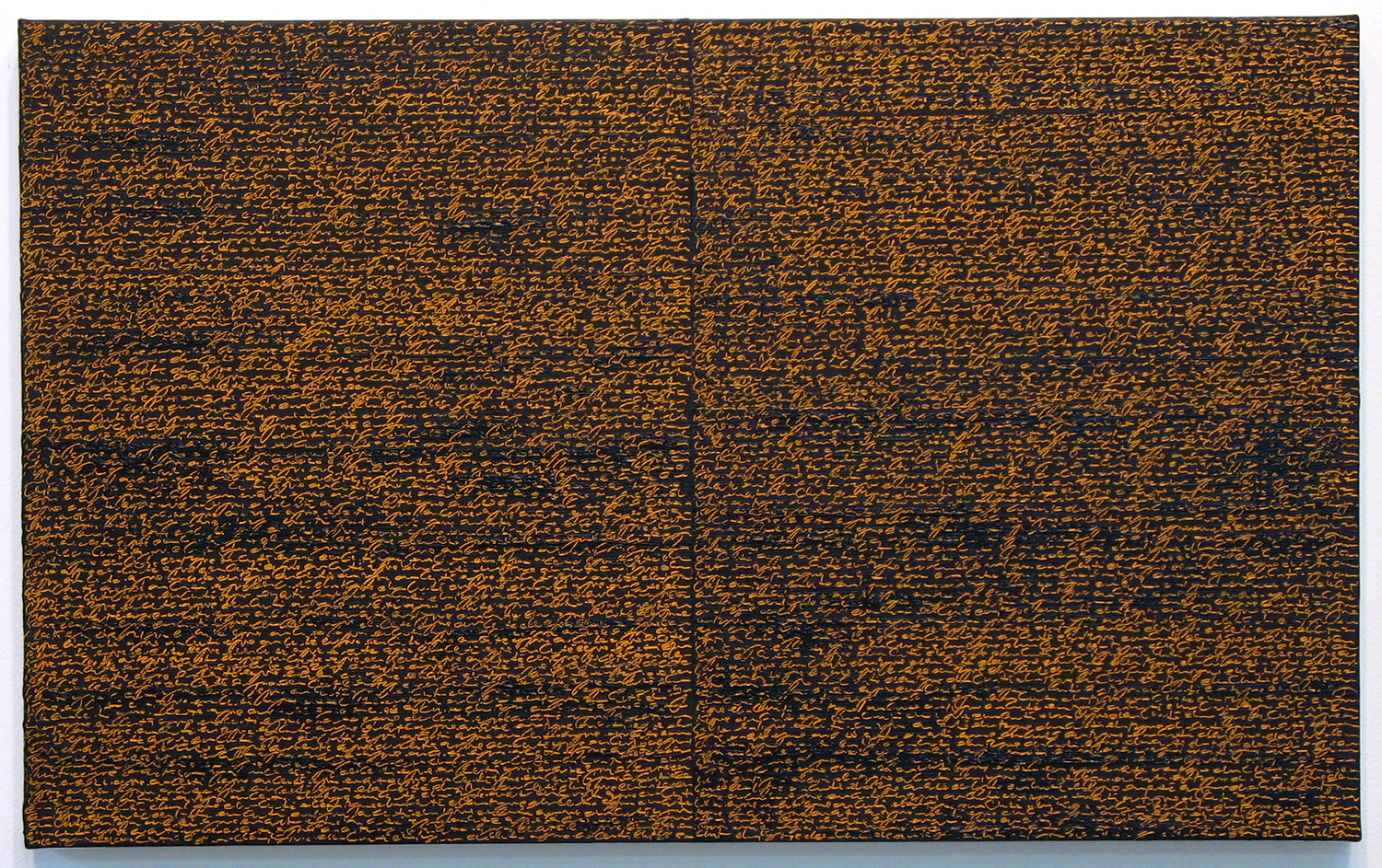 Open Book -orange-brown-<br>oil and amber on canvas over panel, 37 x 60 cm, 2008