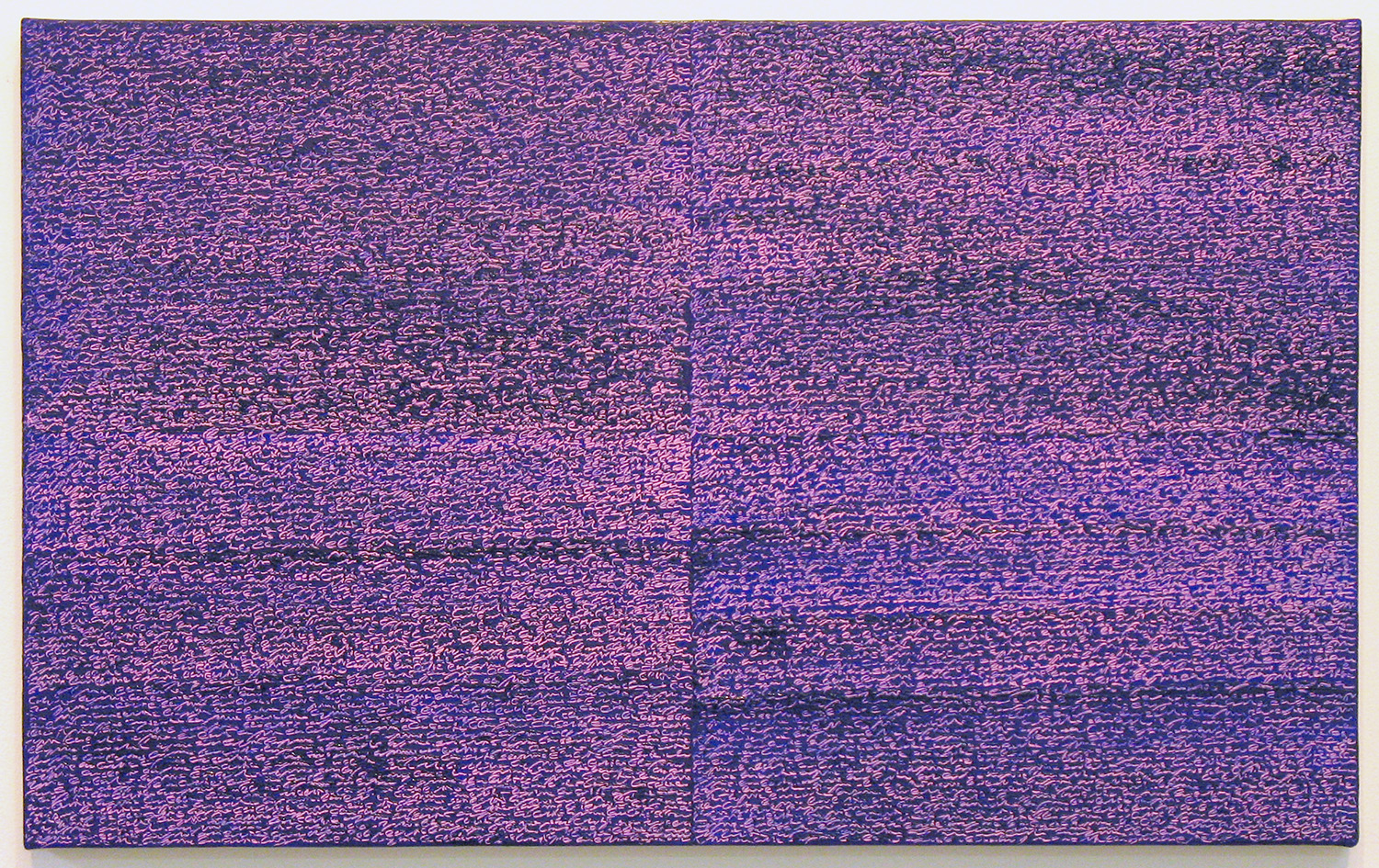 Open Book -pink-violet-<br>oil and amber on canvas over panel, 37 x 60 cm, 2008