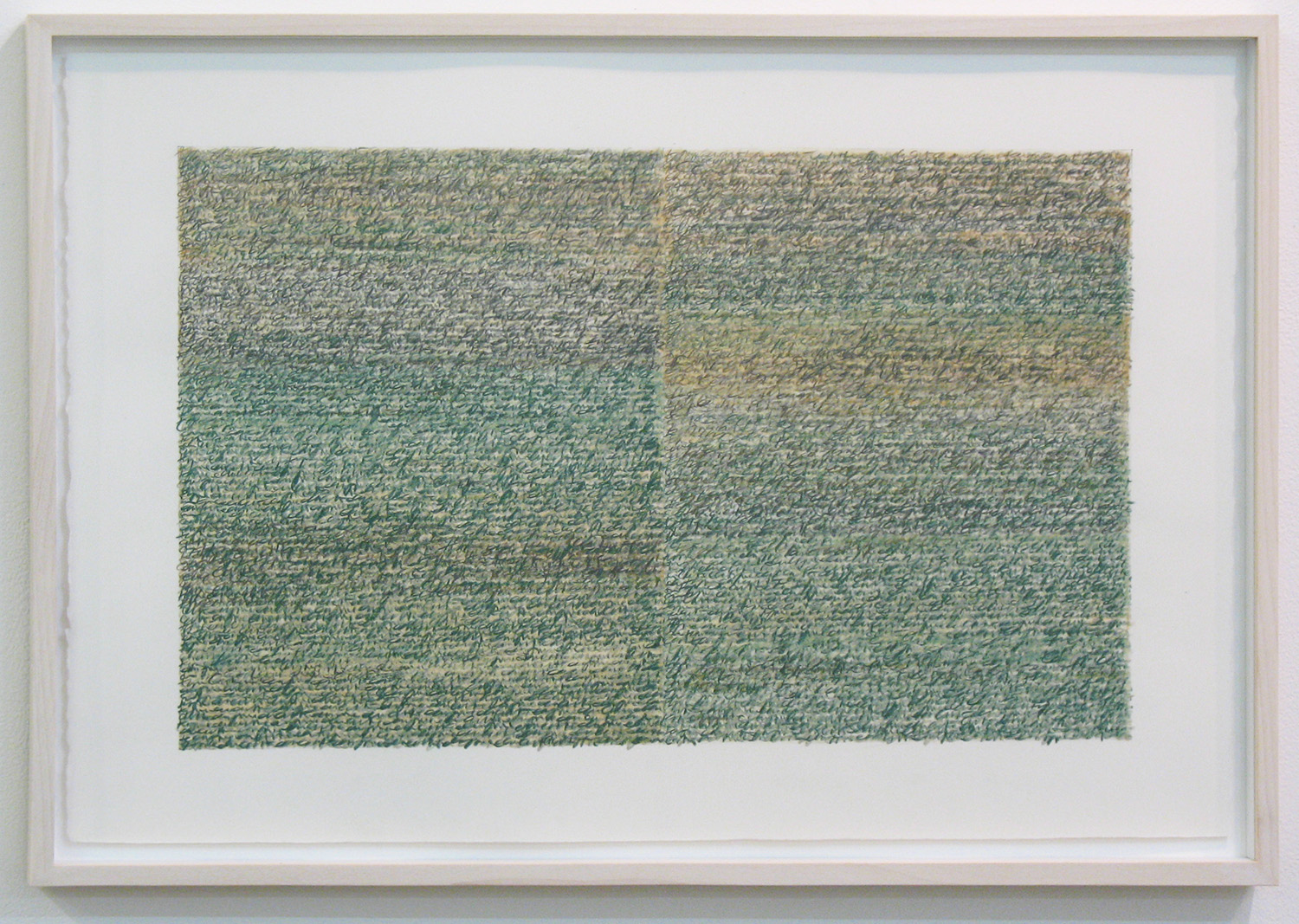 Silent Sound 1 <br>pigment pencil on paper, 38.5 x 56.5 cm (paper size), 2008