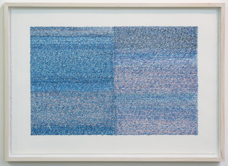 Silent Sound 4 <br>pigment pencil on paper, 38.5 x 56.5 cm (paper size), 2008
