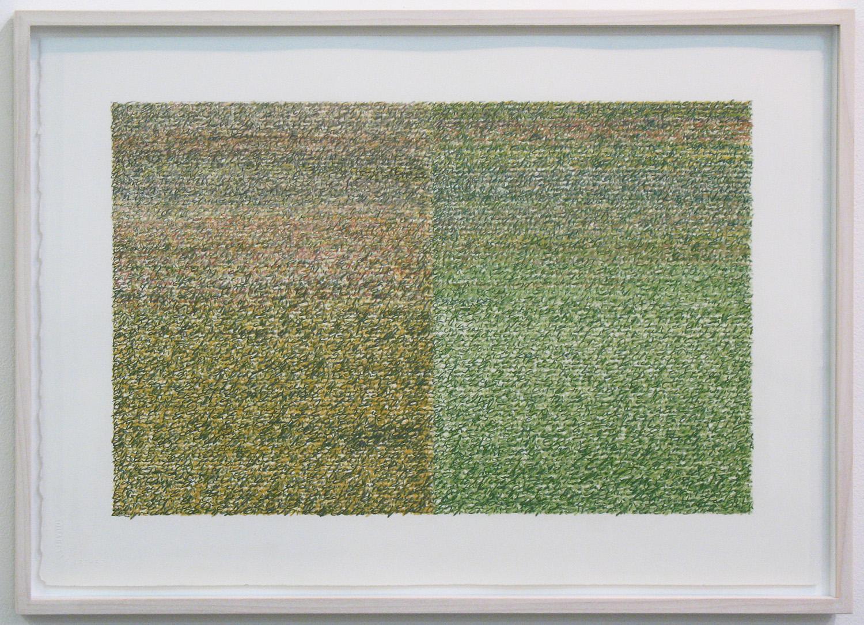 Silent Sound 5 <br>pigment pencil on paper, 38.5 x 56.5 cm (paper size), 2008