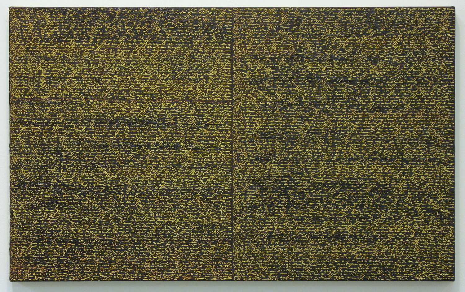Open Book -yellow-brown-<br>oil and amber on canvas over panel, 37 x 60 cm, 2008
