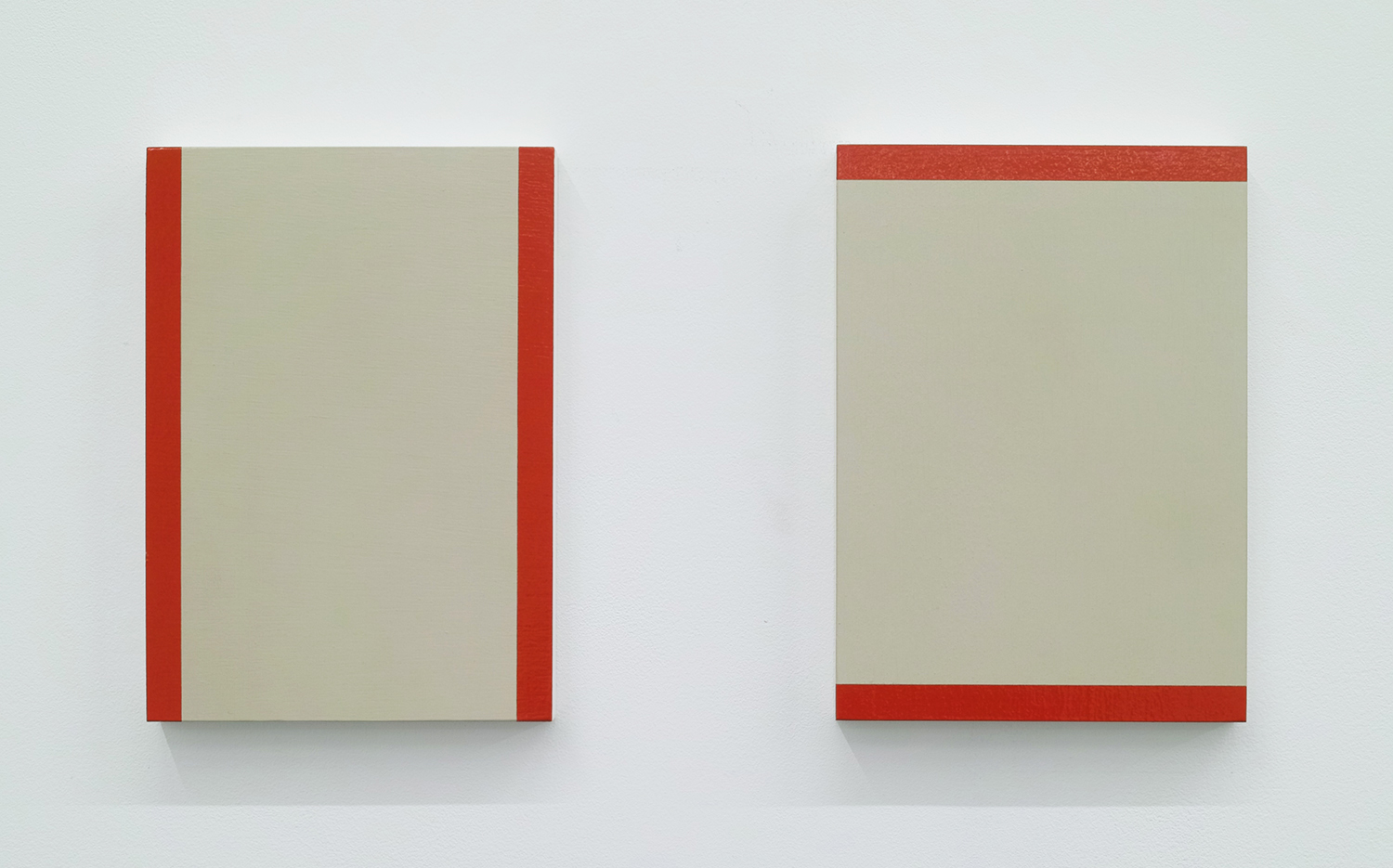 Text No.415<br>acrylic on wood panel<br>208 x 148 x 20 mm set of 2<br>200