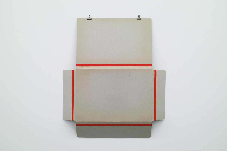 Text No.234<br>acrylic on cardboard<br>732 x 444 mm<br>2001