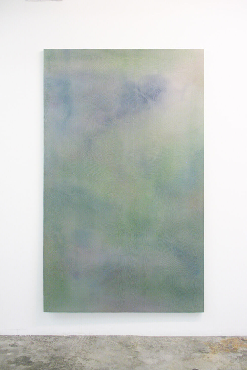 Untitled<br> Acrylic, glass organdy, stainless steel, panel 200 x 12 cm 2012<br> VOCA出展作