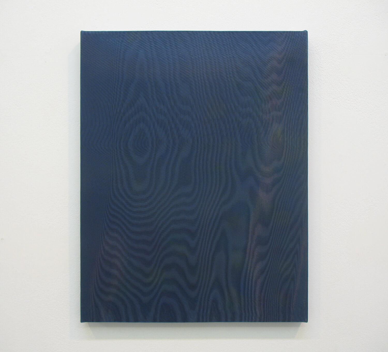 drops #2<br> Acrylic, glass organdy, cotton, panel 41 x 33 cm 2013