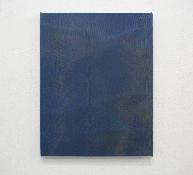 drops #3<br> Acrylic, glass organdy, cotton, panel 41 x 33 cm 2013