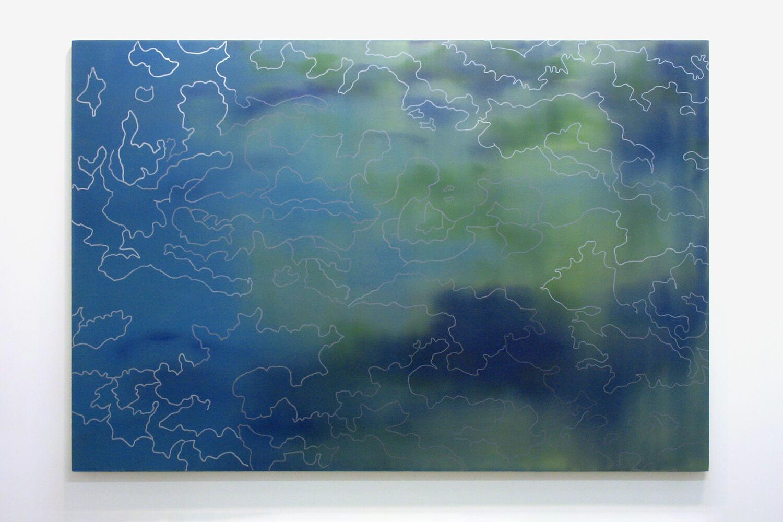 冠雪 snow capped<br> Oil on canvas 194 x 130 cm 2013