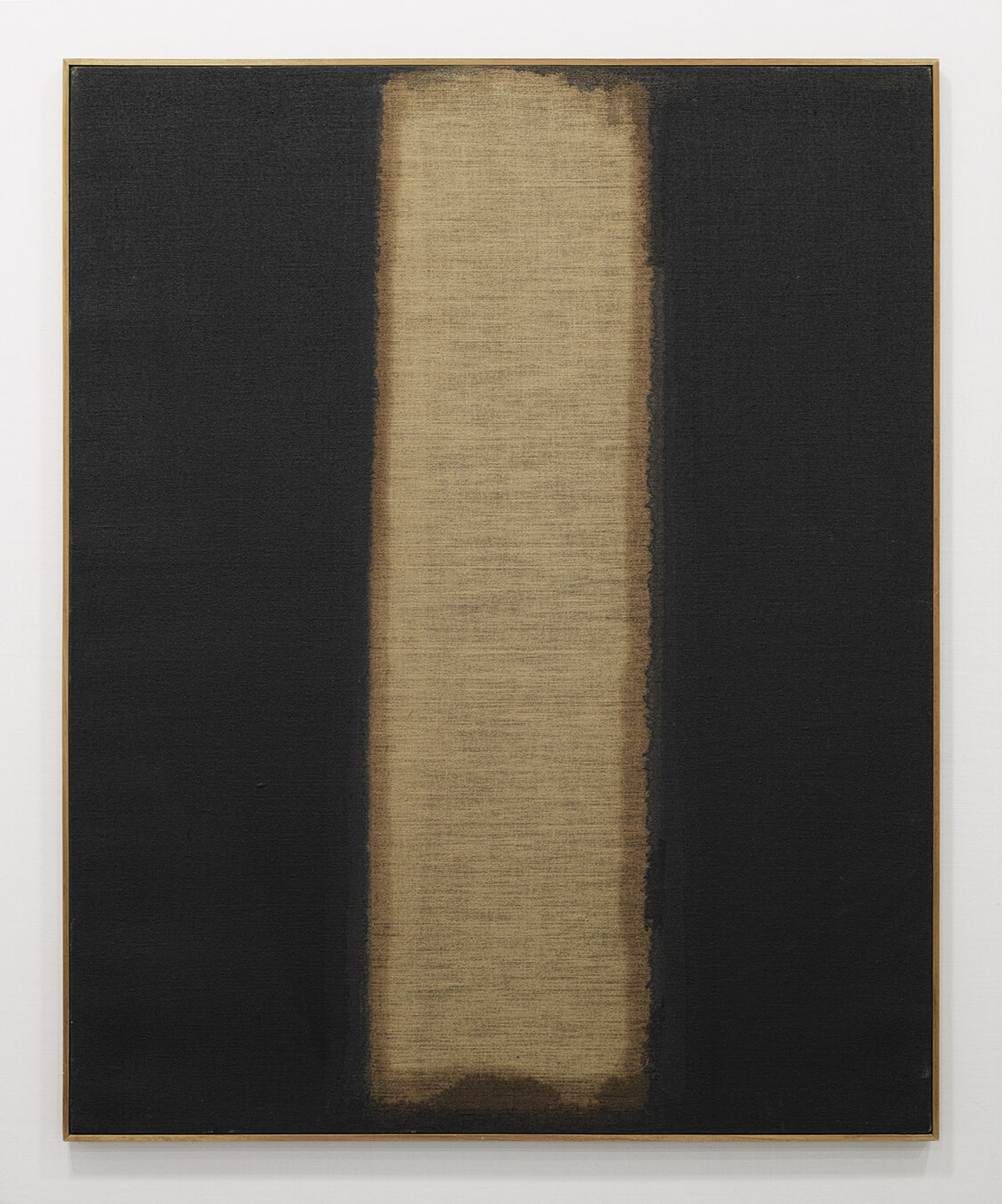 <b>UMBER-BLUE 1977</b><br>Oil on Canvas<br>100.0 x 80.3 cm<br>Coll: Tokyo Opera City Art Gallery