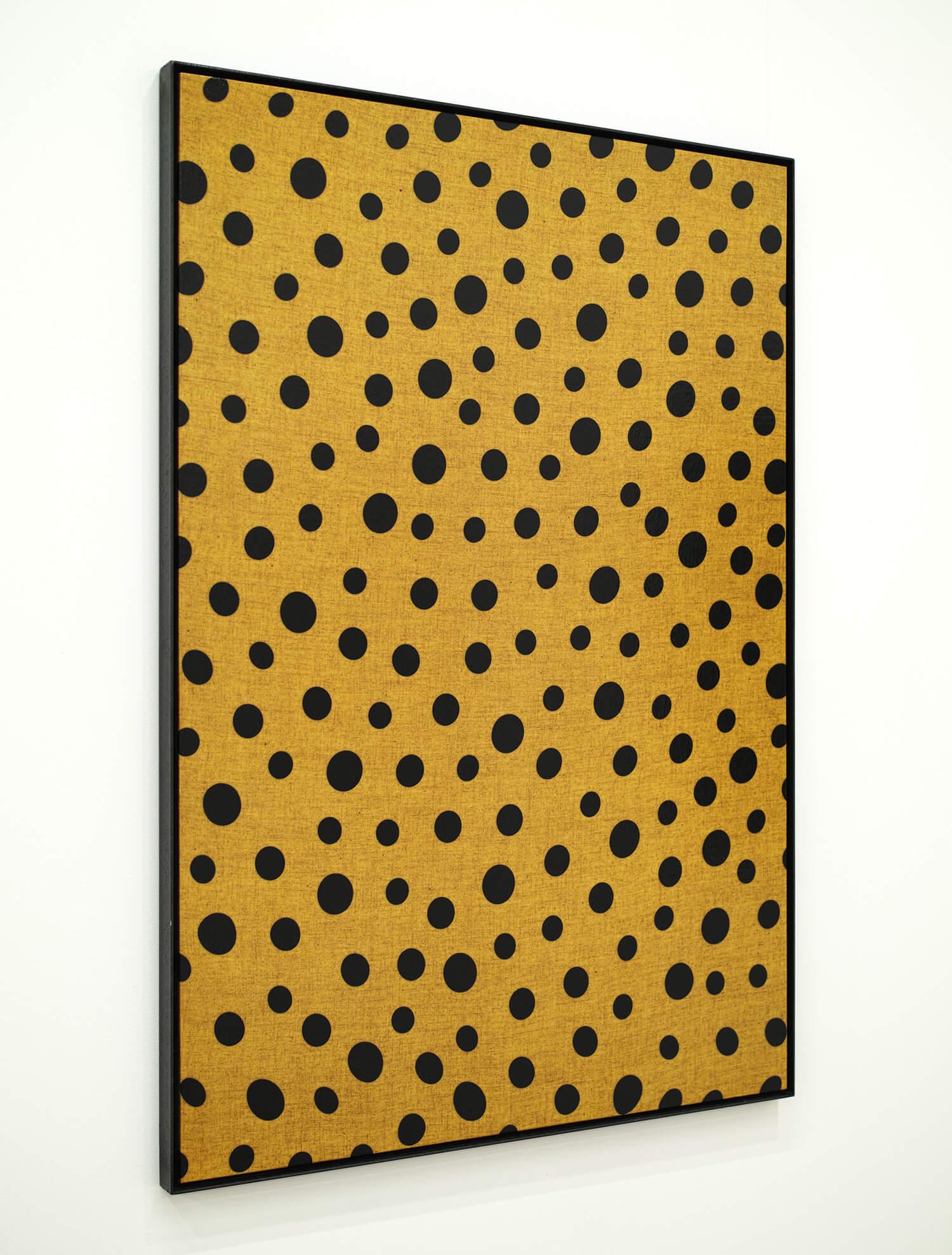 無意味の反復-9|木製パネル、綿布にウレタン塗料、鉄製フレーム|865 x 605 mm|1997