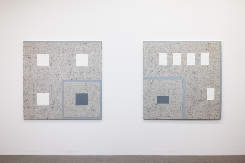 五十嵐彰雄|AKIO IGARASHI<br>Painting 19-203|Oil on canvas|130.5 x 130.5 cm|2019 (left)<br>Painting 19-204|Oil on canvas|130.5 x 130.5 cm|2019 (left)