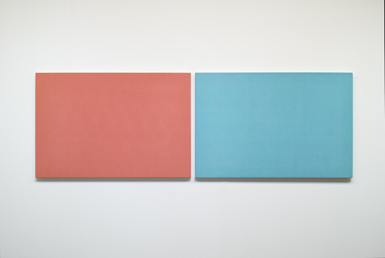 鈴木隆|TAKASHI SUZUKI<br>Light|acrylic, ink on cotton|606 x 1852 x 30 mm (overall, 2 pieces)|2010