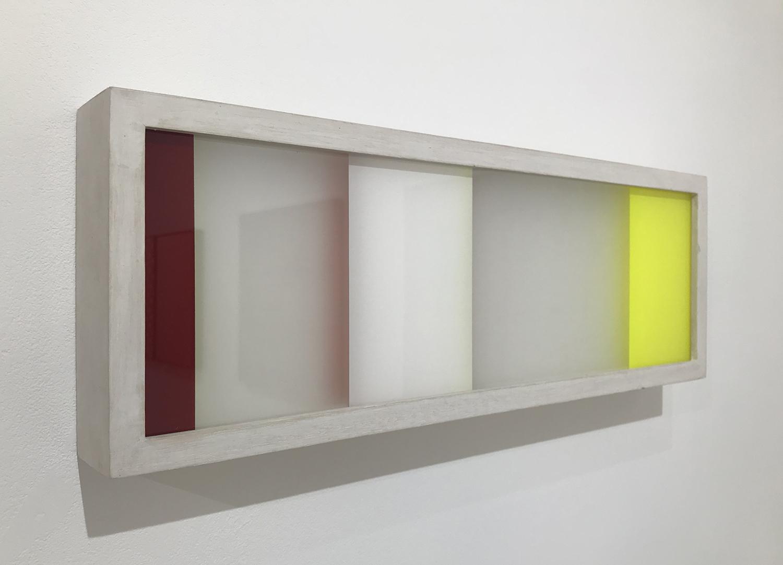 MOON PIL SHIM|R12018|Acrylic, plexiglas, canvas|16 x 47 x 5 cm|2012<br>¥100,000.-250,000.