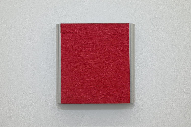 北𡌛吉彦|YOSAHIHIKO KITANO<br>Untitled - Y.K_ Red-1|Oil on aluminum|220 x 222 x 35 mm|2020