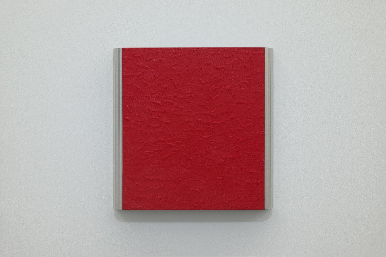 北𡌛吉彦|YOSAHIHIKO KITANO<br>Untitled - Y.K_ Red-2|Oil on aluminum|220 x 222 x 35 mm|2020