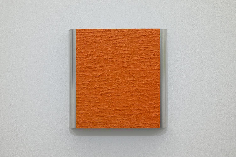 北𡌛吉彦|YOSAHIHIKO KITANO<br>Untitled - Y.K_ Orange-1|Oil on aluminum|220 x 222 x 35 mm|2020