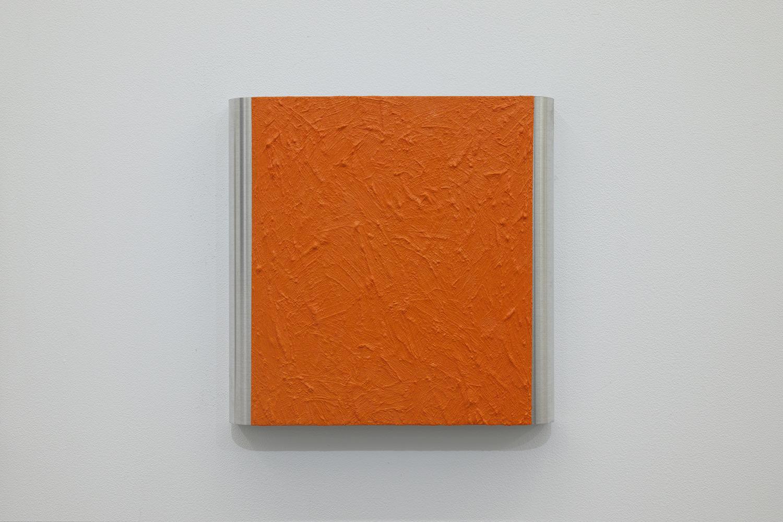 北𡌛吉彦|YOSAHIHIKO KITANO<br>Untitled - Y.K_ Orange-2|Oil on aluminum|220 x 222 x 35 mm|2020