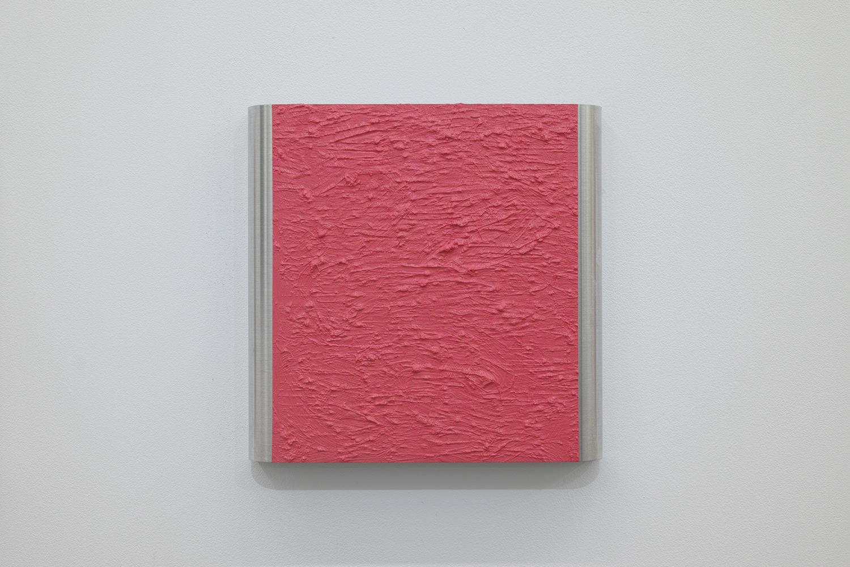 北𡌛吉彦|YOSAHIHIKO KITANO<br>Untitled - Y.K_ Pink-1|Oil on aluminum|220 x 222 x 35 mm|2020